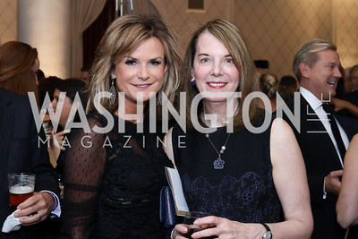 Gail MacKinnon, Carol Melton. Photo by Tony Powell. 2016 Hisaoka Gala. Omni Shoreham. September 17, 2016