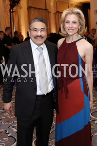Bob Hisaoka, Katherine Bradley. Photo by Tony Powell. 2016 Hisaoka Gala. Omni Shoreham. September 17, 2016