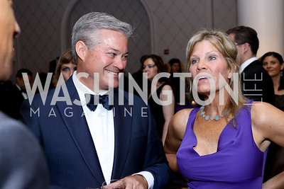Mark Lowham, Lauren Peterson. Photo by Tony Powell. 2016 Hisaoka Gala. Omni Shoreham. September 17, 2016