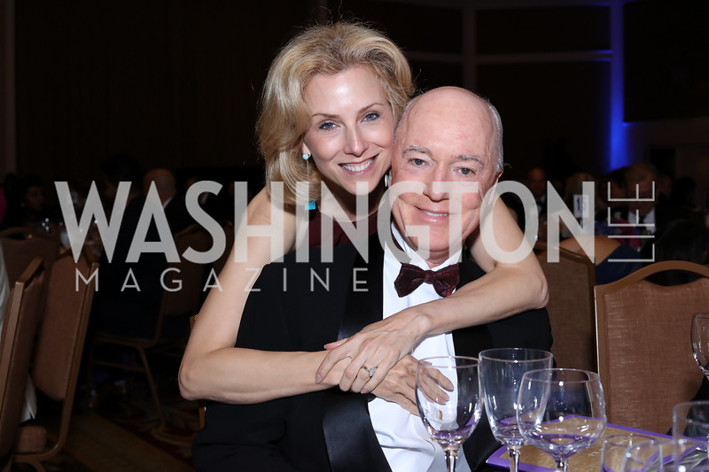 Katherine and David Bradley. Photo by Tony Powell. 2016 Hisaoka Gala. Omni Shoreham. September 17, 2016