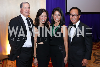 Jim and Mai Abdo, Bea and Peter Nguyen. Photo by Tony Powell. 2016 Hisaoka Gala. Omni Shoreham. September 17, 2016