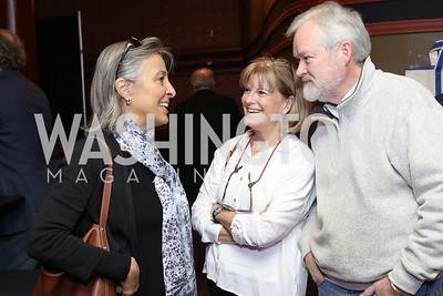 Liz Barratt-Brown, Carolyn and Francis Grant-Suttie. Photo by Tony Powell. 2016 Kara Kennedy Brunch. November 13, 2016