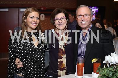Betsey Pope, Leslie Kaufmann, Mark Koenig. Photo by Tony Powell. 2016 Kara Kennedy Brunch. November 13, 2016