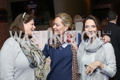 Lynn Delaney, Mariella Trager, Linda Barrett. Photo by Tony Powell. 2016 Kara Kennedy Brunch. November 13, 2016