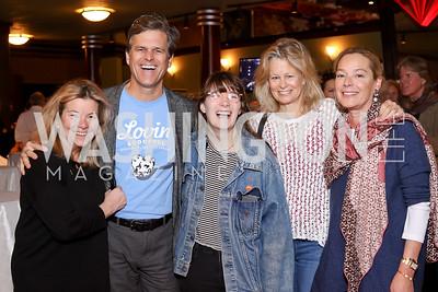 Linda Donovan, Tim Shriver, Grace Allen, Linda  Potter, Mariella Trager. Photo by Tony Powell. 2016 Kara Kennedy Brunch. November 13, 2016