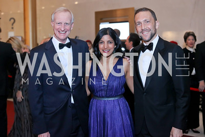 Jack Evans, Parita Selfridge and Chief of Protocol Amb. Peter Selfridge. Photo by Tony Powell. 2016 Kennedy Center Honors Red Carpet. December 4, 2016