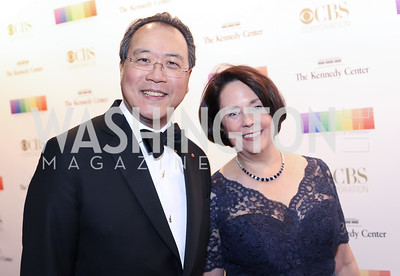 Yo-Yo Ma and Jill Horner. Photo by Tony Powell. 2016 Kennedy Center Honors Red Carpet. December 4, 2016