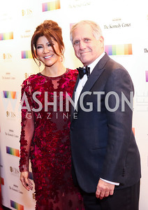 Julie Chen and Les Moonves. Photo by Tony Powell. 2016 Kennedy Center Honors Red Carpet. December 4, 2016
