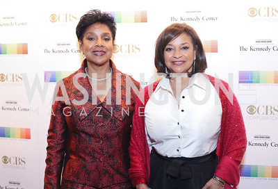 Phylicia Rashad and Debbie Allen. Photo by Tony Powell. 2016 Kennedy Center Honors Red Carpet. December 4, 2016