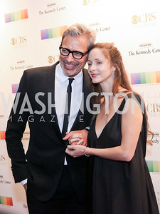Jeff Goldblum and Emilie Livingston. Photo by Tony Powell. 2016 Kennedy Center Honors Red Carpet. December 4, 2016