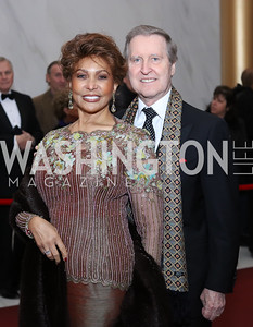 Janet Langhart Cohen and William Cohen. Photo by Tony Powell. 2016 Kennedy Center Honors Red Carpet. December 4, 2016