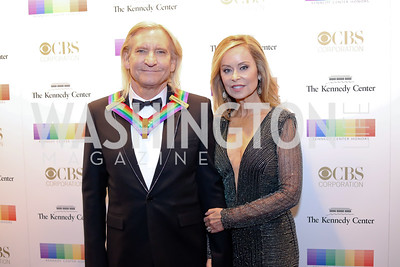 Honoree Joe Walsh and Marjorie Bach. Photo by Tony Powell. 2016 Kennedy Center Honors Red Carpet. December 4, 2016