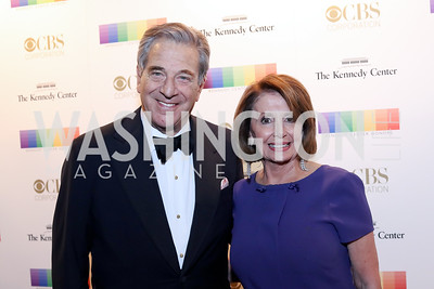 Paul Pelosi and Leader Nancy Pelosi. Photo by Tony Powell. 2016 Kennedy Center Honors Red Carpet. December 4, 2016
