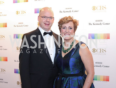 Peter Ellefson and Deborah Rutter. Photo by Tony Powell. 2016 Kennedy Center Honors Red Carpet. December 4, 2016
