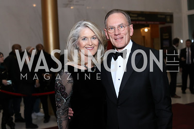 Sydney McNiff Johnson and Jay Johnson. Photo by Tony Powell. 2016 Kennedy Center Honors Red Carpet. December 4, 2016