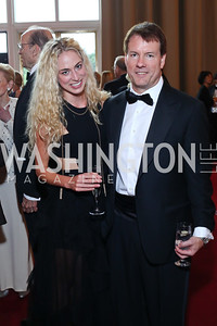 Christine Pence, Michael Saylor. Photo by Tony Powell. 2016 Kennedy Center Spring Gala. June 5, 2016