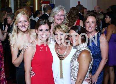 Caroline Wendling, Annie Goetz, Lori Wendling, Julie Hinkel, Jane Goetz, Gretchen Hinkel. Photo by Tony Powell. 2016 Kennedy Center Spring Gala. June 5, 2016