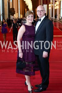 Deborah Rutter and Peter Ellefson. Photo by Tony Powell. 2016 Kennedy Center Spring Gala. June 5, 2016