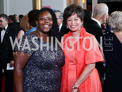 Kaya Henderson, Valerie Jarrett. Photo by Tony Powell. 2016 Kennedy Center Spring Gala. June 5, 2016