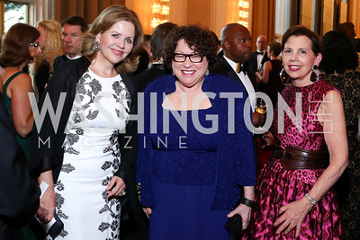 Opera Star Renée Fleming, Justice Sonia Sotomayor, Adrienne Arsht. Photo by Tony Powell. 2016 Kennedy Center Spring Gala. June 5, 2016