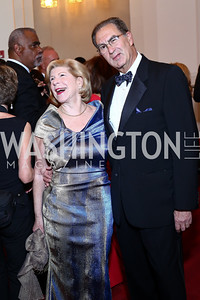 Nina Totenberg and David Reines. Photo by Tony Powell. 2016 Kennedy Center Spring Gala. June 5, 2016