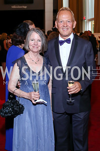 Ginny Friend, Tedd Davis. Photo by Tony Powell. 2016 Kennedy Center Spring Gala. June 5, 2016