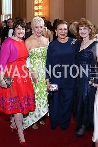 Marlene Malek, Mary Ourisman, Alma Powell, Ann Hand. Photo by Tony Powell. 2016 Kennedy Center Spring Gala. June 5, 2016