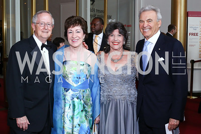 Thomas Daffron and Sen. Susan Collins, Carol Schwartz, Stuart Bernstein. Photo by Tony Powell. 2016 Kennedy Center Spring Gala. June 5, 2016