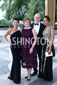 Giselle Fernandez, Deborah Rutter and Peter Ellefson, Michelle Burton. Photo by Tony Powell. 2016 Kennedy Center Spring Gala. June 5, 2016