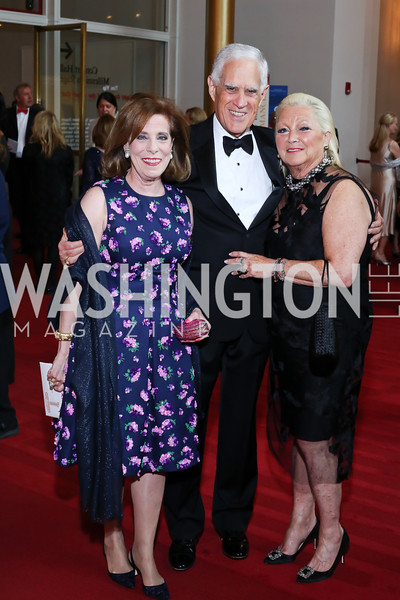 Patricia Sagon, Chuck Miller, Connie Milstein. Photo by Tony Powell. 2016 Kennedy Center Spring Gala. June 5, 2016