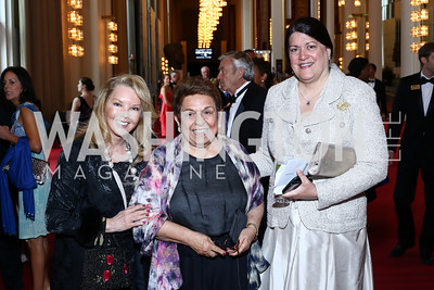 Teena Hostovich, Donna Shalala, Amy Singh. Photo by Tony Powell. 2016 Kennedy Center Spring Gala. June 5, 2016