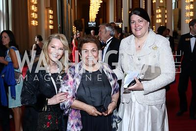 Teena Hostovich, Donna Shalala, Amy Singh. Photo by Tony Powell. 2016 Kennedy Center Spring Gala. June 5, 2016