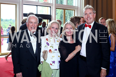 Lloyd Hand, Marion Rosenthal, Lady Darroch and Britain Amb. Sir Kim Darroch. Photo by Tony Powell. 2016 Kennedy Center Spring Gala. June 5, 2016
