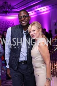 Andre Wells, Cheryl Masri. Photo by Tony Powell. 2016 Knock Out Abuse. Ritz Carlton. November 3, 2016