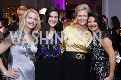 Aimee Dominick, Alkisti Karmokolias, Debra Jean Overholt, Amal Zaari. Photo by Tony Powell. 2016 Knock Out Abuse. Ritz Carlton. November 3, 2016