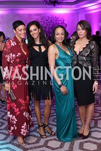 Tessa Edison, Mary Barth, Camille Hill, Veronica Tynes. Photo by Tony Powell. 2016 Knock Out Abuse. Ritz Carlton. November 3, 2016