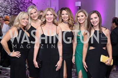 Kimmie Boone, Andrea Paro, Norah Clair Gourlay, Kelley Halpern, Sarah Wingfield Berman, Kim Nixon. Photo by Tony Powell. 2016 Knock Out Abuse. Ritz Carlton. November 3, 2016