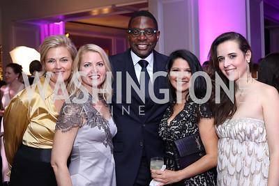 Aimee Dominick, Debra Jean Overholt, Andre Wells, Amal Zaari, Carolina Furukrona. Photo by Tony Powell. 2016 Knock Out Abuse. Ritz Carlton. November 3, 2016