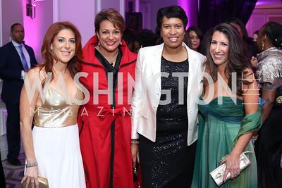 Jayne Sandman, Debbi Jarvis, Mayor Muriel Bowser, Barbara Martin. Photo by Tony Powell. 2016 Knock Out Abuse. Ritz Carlton. November 3, 2016