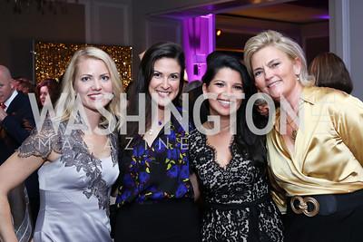 Aimee Dominick, Alkisti Karmokolias, Amal Zaari, Debra Jean Overholt. Photo by Tony Powell. 2016 Knock Out Abuse. Ritz Carlton. November 3, 2016