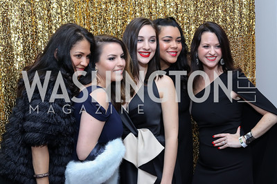 Annie Perezchica, Sofia, Royce, Leah Benoit, Giselle Roig, Amy Clark. Photo by Tony Powell. 2016 Knock Out Abuse. Ritz Carlton. November 3, 2016