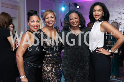 Janel Merritt, Stacie Scott Turner, Kim Bassett, Marie Sylla-Dixon. Photo by Tony Powell. 2016 Knock Out Abuse. Ritz Carlton. November 3, 2016