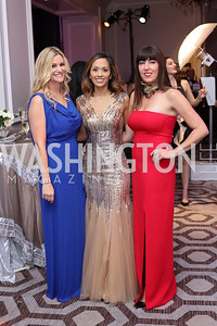 Melanie Coburn, Anabel Genetski, Jen Hecht. Photo by Tony Powell. 2016 Knock Out Abuse. Ritz Carlton. November 3, 2016