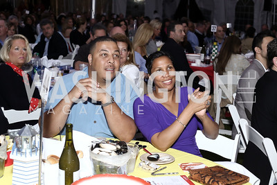 MD Delegate Jay Walker and Monique Anderson Walker. Photo by Tony Powell. 2016 Lobster Extravaganza. Peterson Residence. May 7, 2016