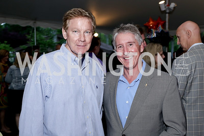 Tom Davis, Cardinal Bank President Kevin Reynolds. Photo by Tony Powell. 2016 Lobster Extravaganza. Peterson Residence. May 7, 2016