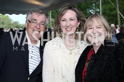 Gary Falconer, Rep. Barbara Comstock, Linda Falconer. Photo by Tony Powell. 2016 Lobster Extravaganza. Peterson Residence. May 7, 2016