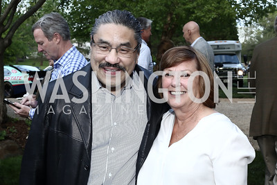 Bob Hisaoka, Jean Ann Gililland. Photo by Tony Powell. 2016 Lobster Extravaganza. Peterson Residence. May 7, 2016