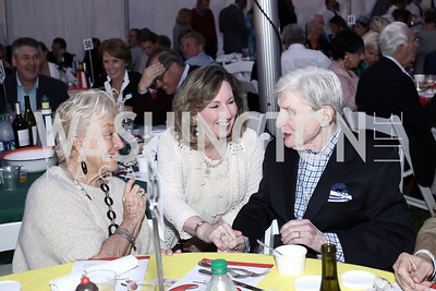 Carolyn Peterson, Rep. Barbara Comstock, John Warner. Photo by Tony Powell. 2016 Lobster Extravaganza. Peterson Residence. May 7, 2016