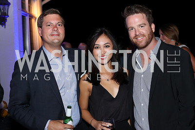 Jeff Freeland, Monique Padrid, Anthony Reale. Photo by Tony Powell. 2016 Lonely Whale Fundraiser. September 16, 2016