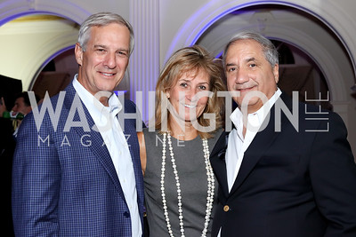 Dennis and Denise Reilly, Alan Zuccari. Photo by Tony Powell. 2016 Lonely Whale Fundraiser. September 16, 2016